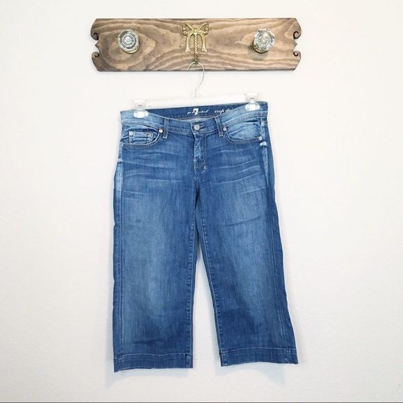 7 For All Mankind Denim - 7 For All Mankind Crop Dojo Jeans Size 30